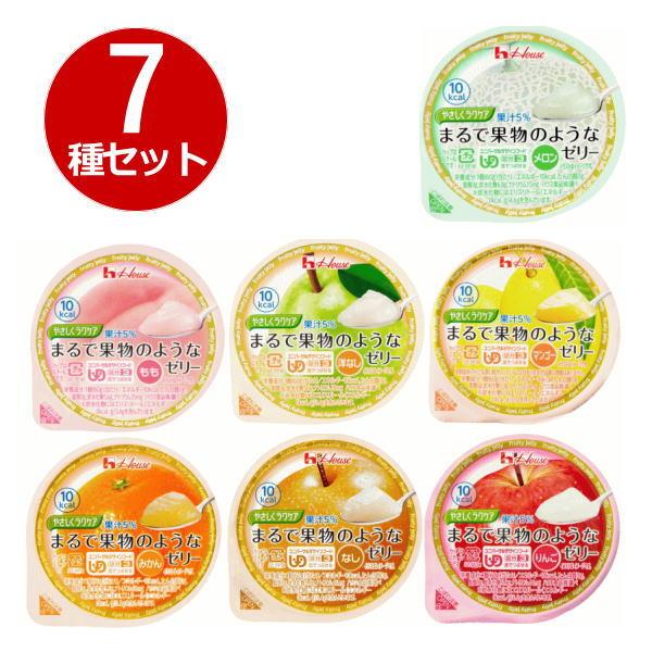 ハウス食品 やさしくラクケア まるで果物のようなゼリー 7種類セット