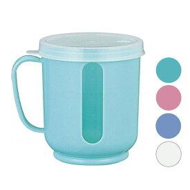 目盛り付きカップ「メモリーコップ」300ml 小森樹脂 グリーン/ピンク/ブルー/ホワイト 1個 介護用品 自助具 食事介助 食事補助 介護食器 在宅介護