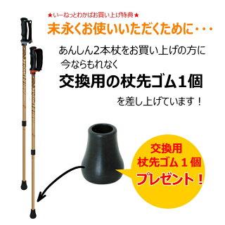 ウォーキング用ポール「あんしん2本杖」2本1組シナノ高齢者用リハビリ用散歩つえ・杖運動トレーニング[送料無料]トレイルポール日本製
