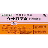 【第2類医薬品】 ケナログA 口内用軟膏 5g