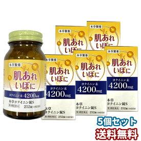 【第3類医薬品】 本草 ヨクイニン錠S 252錠×5個セット あす楽対応 送料無料