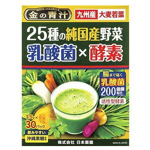 金の青汁 25種の純国産野菜 乳酸菌×酵素 30包