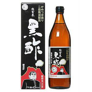 かめつぼ仕込み 純玄米黒酢 900ml 瓶