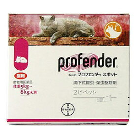 【動物用医薬品】 内寄生虫用薬 プロフェンダースポット (1.12mL×2ピペット)