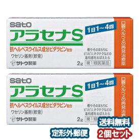 【第1類医薬品】 アラセナS 2g×2個セット※セルフメディケーション税制対象商品 口唇ヘルペス メール便送料無料