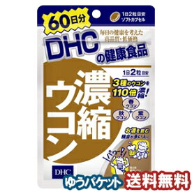 DHC 60日分 濃縮ウコン 120粒 メール便送料無料