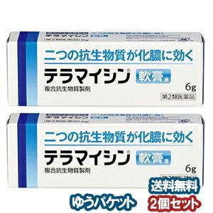 【第2類医薬品】 テラマイシン軟膏a 6g×2個セット メール便送料無料