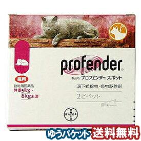 【動物用医薬品】 内寄生虫用薬 プロフェンダースポット (1.12mL×2ピペット) メール便送料無料