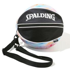 ボールバッグ タイダイ レインボー 49-001TD | 正規品 SPALDING スポルディング バスケットボール バスケ バッグ ボールケース ボール バッグ 1個 メンズ レディース 男性 女性 ユニセックス 男女兼用 おしゃれ オシャレ