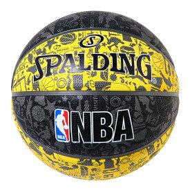 グラフィティ イエロー ラバー 7号球 NBAロゴ入り 83-307Z | 正規品 SPALDING スポルディング バスケットボール バスケ NBA 7号 ラバー ゴム 屋外 外用 屋内 室内