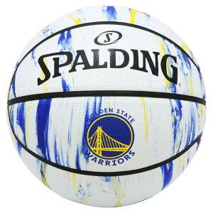 ウォリアーズ マーブル ホワイト ラバー 6号球 84-313J | 正規品 SPALDING スポルディング バスケットボール バスケ NBA 6号 ラバー ゴム 屋外 外用 屋内 室内