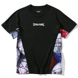 ジュニア Tシャツ マーブルボール サイド SJT200640   正規品 SPALDING スポルディング バスケットボール バスケ NBA ウェア 練習着 半袖 シャツ ジュニア キッズ