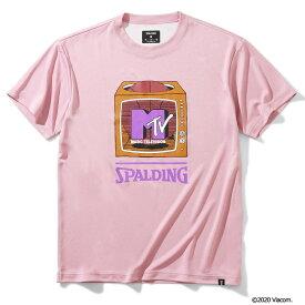 Tシャツ MTV テレビジョン SMT200050 | 正規品 SPALDING スポルディング バスケットボール バスケ NBA ウェア 練習着 半袖 シャツ メンズ レディース 男性 女性 ユニセックス 男女兼用
