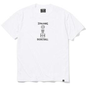 Tシャツ バスケットボールモチーフ SMT200400 | 正規品 SPALDING スポルディング バスケットボール バスケ NBA ウェア 練習着 半袖 シャツ メンズ レディース 男性 女性 ユニセックス 男女兼用