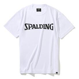 Tシャツ スポルディングロゴ SMT201350 | 正規品 SPALDING スポルディング バスケットボール バスケ NBA ウェア 練習着 半袖 シャツ メンズ レディース 男性 女性 ユニセックス 男女兼用