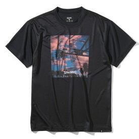 Tシャツ サンセット SMT203080   正規品 SPALDING スポルディング バスケットボール バスケ NBA ウェア 練習着 半袖 シャツ メンズ レディース 男性 女性 ユニセックス 男女兼用