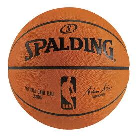 オフィシャルNBAゲームボール 天然皮革 7号球 NBAロゴ入り 74-569Z | 正規品 SPALDING スポルディング バスケットボール バスケ NBA 7号 皮 革 天然 天然皮革 屋内 室内
