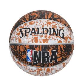 グラフィティ オレンジ ラバー 5号球 NBAロゴ入り 83-360J | 正規品 SPALDING スポルディング バスケットボール バスケ NBA 5号 ラバー ゴム 屋外 外用 屋内 室内