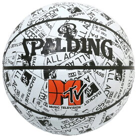 MTV イベントパス ラバー 7号球 84-066J | 正規品 SPALDING スポルディング バスケットボール バスケ 7号 ラバー ゴム 屋外 外用 屋内 室内