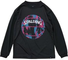 バスケットボール ジュニア ロングスリーブ Tシャツ マーブルボール SJT191550 SPALDING スポルディング