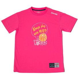 Tシャツ メッセージ プレー SMT180200 | 正規品 SPALDING スポルディング バスケットボール バスケ NBA ウェア 練習着 半袖 シャツ メンズ レディース 男性 女性 ユニセックス 男女兼用