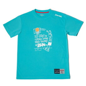 Tシャツ メッセージ シュート SMT180210 | 正規品 SPALDING スポルディング バスケットボール バスケ NBA ウェア 練習着 半袖 シャツ メンズ レディース 男性 女性 ユニセックス 男女兼用