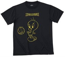 Tシャツ トゥイーティ バックパス SMT191390 | 正規品 SPALDING スポルディング バスケットボール バスケ NBA ウェア 練習着 半袖 シャツ メンズ レディース 男性 女性 ユニセックス 男女兼用