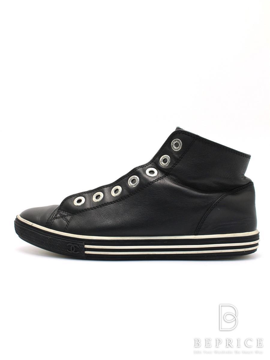 【43%OFF】CHANEL シャネル 靴 スニーカー ハイカット【37】【Bランク】【中古】tn300318t K3fB RSS30