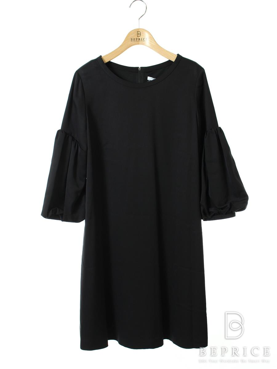 FOXEY NEWYORK フォクシー ワンピース Cupra Satin Novelty Sleeve Dress Collection【38】【Aランク】【中古】tn300405t