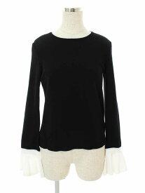 フォクシーブティック Tシャツ カットソー 36848 Flare sleeve knit top 長袖 38【Aランク】【中古】tn310203