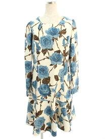 エムズグレイシー ワンピース バラモチーフ 花柄 長袖 40【Aランク】【中古】tn190530
