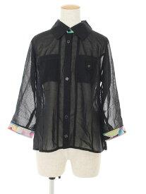 レオナール スポーツ シャツ ブラウス ハーフスリーブ ワンポイント 半端袖 42【Aランク】 【中古】