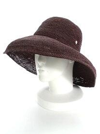ヘレンカミンスキー 麦わら帽子 プロバンス12 ココア ワンポイント【Aランク】 【中古】 tn190623