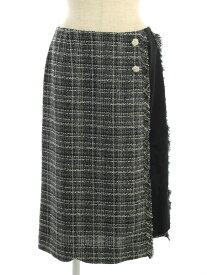 エムズグレイシー スカート ツイード 無地 40【Sランク】 【中古】 tn190811