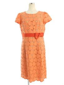 エムズグレイシー ワンピース Heart Pattern Lace One-piece 刺繍 半袖 40【Sランク】【中古】tn190725