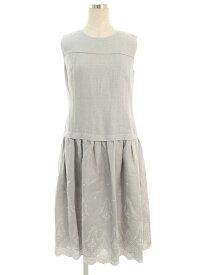 フォクシーブティック ワンピース 39776 Dress Summer Garden 刺繍 ノースリーブ 38【Sランク】【中古】tn190725