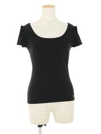 フォクシーニューヨーク Tシャツ カットソー 27125 Tuck Sleeve Top ワンポイント 半袖 38【Aランク】【中古】tn190801