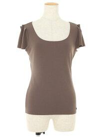 フォクシーニューヨーク Tシャツ カットソー 27125 Tuck Sleeve Top 半袖 40【Aランク】【中古】tn190801