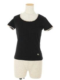 バーバリーブルーレーベル Tシャツ カットソー 刺繍 ワンポイント 半袖 1【Aランク】 【中古】 tn190818