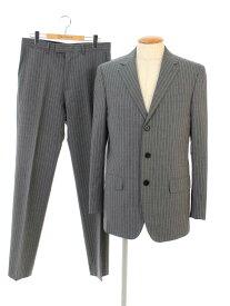 ルイヴィトン スーツ シングル3つ ボタン ウール ストライプ 48/48【Aランク】 【中古】 tn190922
