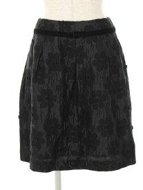 エムズグレイシー スカート フラワー ベロアリボン ジャガード 花柄 38【Aランク】【中古】tn200126