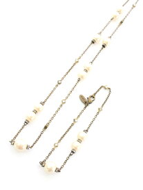フォクシーブティック ネックレス パール クリスタル ネックレス ブレスレット セット【Aランク】 【中古】 tn200903