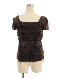 エムズグレイシー Tシャツ カットソー ティアード リボン 半袖 40【Aランク】 【中古】 tn200917