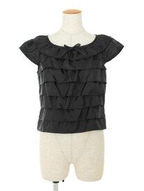 エムズグレイシー Tシャツ カットソー ティアード フリル 半袖 38【Aランク】 【中古】 tn201016
