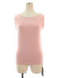 フォクシーブティック ニット セーター 41209 KnitTop Shell ワンポイント 半袖 40【Aランク】 【中古】 tn201025