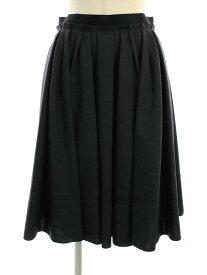 フォクシーブティック スカート 39342 Skirt Waffle Tuck 無地 40【Sランク】 【中古】 tn201025