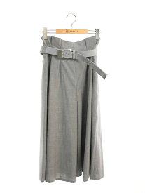 フォクシーブティック パンツ 39564 Pants Proportion ベルト付き 無地 38【Aランク】 【中古】 tn201025
