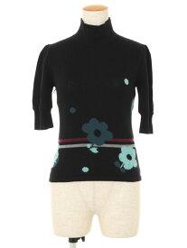 エムズグレイシー ニット セーター フラワーモチーフ 花柄 半端袖 38【Aランク】 【中古】 tn210110