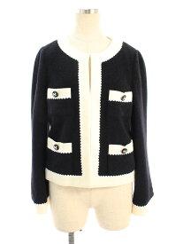 エムズグレイシー ジャケット Bicolor Jacket 無地 38【Aランク】 【中古】 tn210117