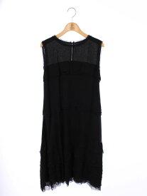 フォクシーブティック ワンピース 34143 Dress Gatsby 無地 ノースリーブ 40【Aランク】 【中古】 tn210321